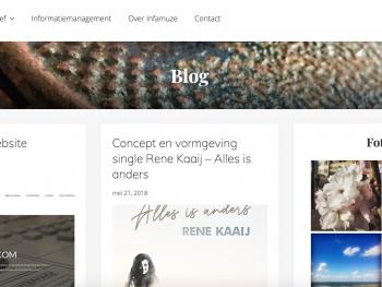 Vernieuwde website Infamuze