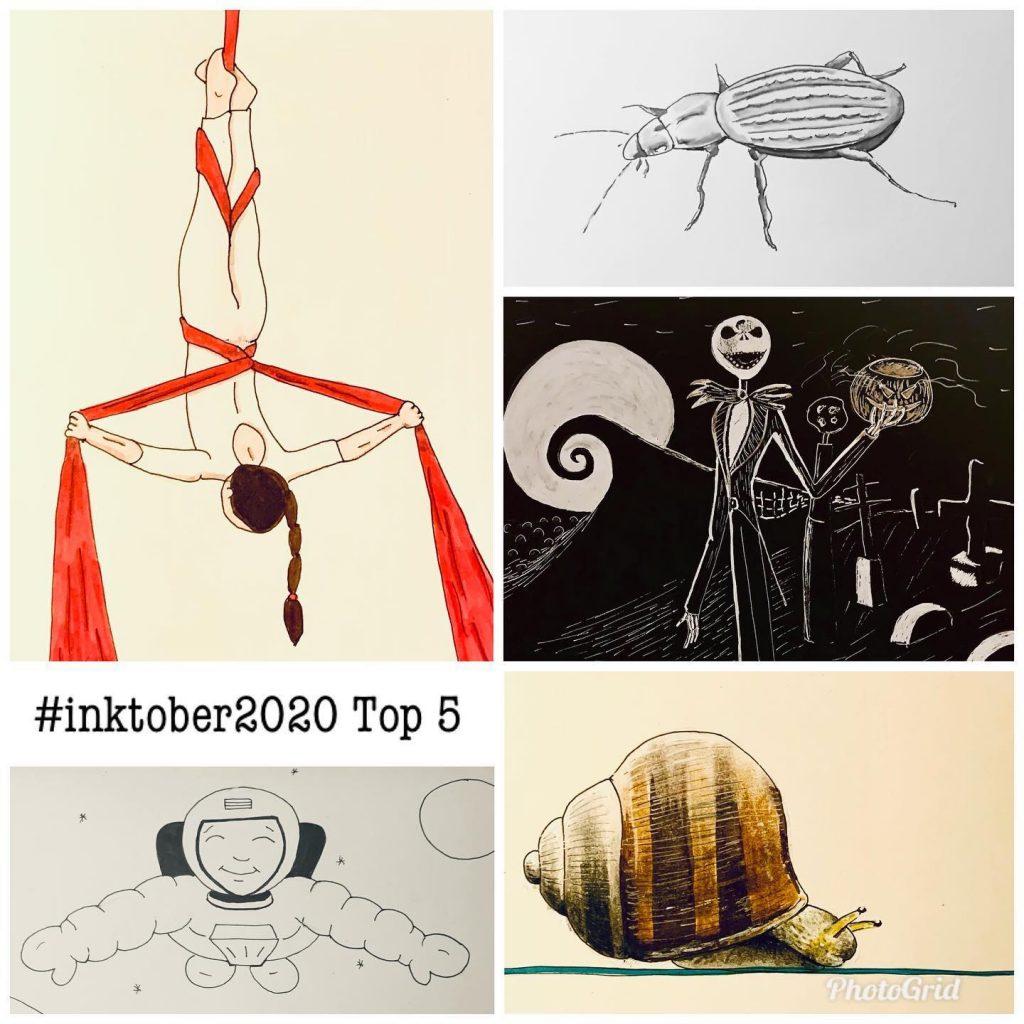 Inktober2020 top 5